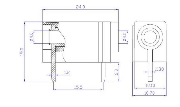 50pcs pcb mount 4mm banana female jack insulated socket