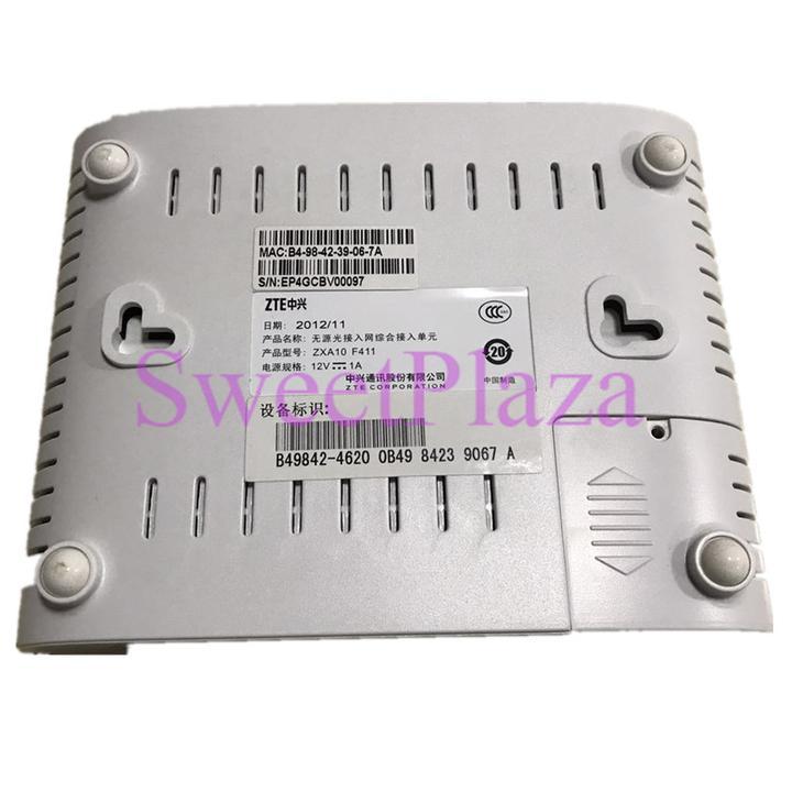 1 ethernet /& 1 voice port optical network FTTH terminal EPON ONU F411 ZTE