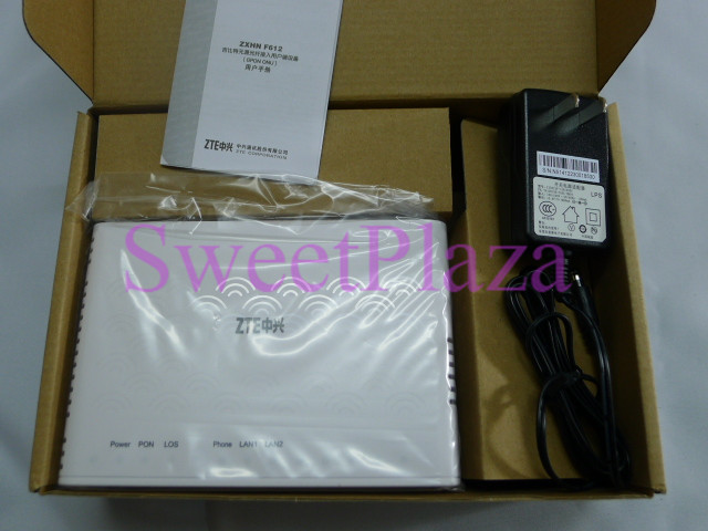 Details about ZTE ZXA10 F612 GPON, V5 , 2 ethernet port and 1 voice port,  English version